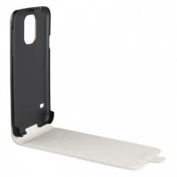 Swiss Charger - Etui Folio en Simili Cuir pour Samsung Galaxy S5 Mini - Blanc