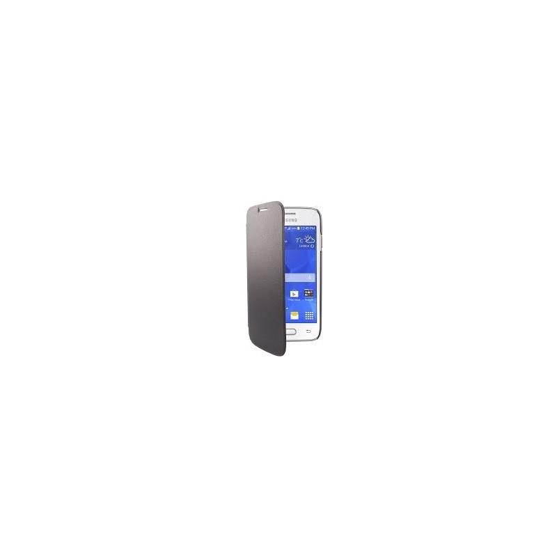 Swiss Charger - Etui folio slim en simili cuir pour Samsung Galaxy Ace 4 - Noir