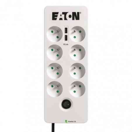EATON Multiprises parafoudre USB Tel@ Protection Box (PB8TUF) - Prises françaises