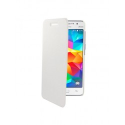 Swiss Charger - Etui folio slim en simili cuir pour Samsung Core Prime - Blanc
