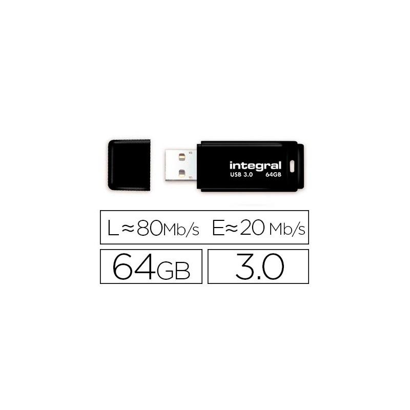 Integral clé USB Neon 64Go Noir