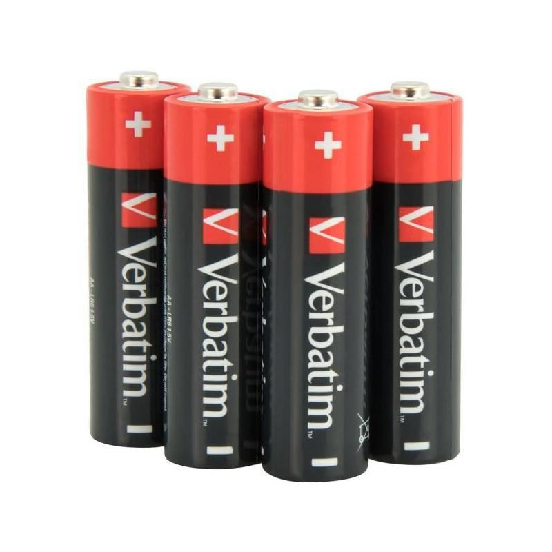 Verbatim Piles alcalines AA, Alcaline, Cylindrique, 1,5 V, 10 pièce(s), AA, Noir, Rouge