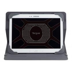 Targus Fit-N-Grip Rotating Universal - Protection à rabat pour tablette - polyuréthane - gris -