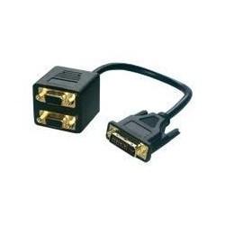 MCL Câble vidéoCG-223 - 30 cm DVI - DVI-I Mâle Vidéo - HD-15 Femelle VGA