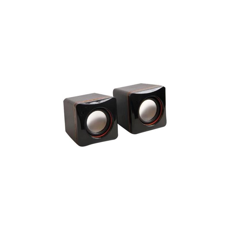 MCL Mini Haut-parleurs - RMS alimentés par l'USB - Noir - 4W