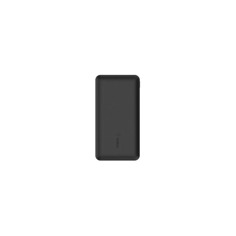 Belkin Batterie externe 3 ports 10K avec câble USB-A vers USB-C noir