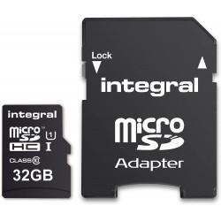 Integral Micro SD HC 32Go Carte Mémoire pour Smartphones et Tablettes haute vitesse jusqu'à 90MB/s,