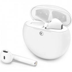 BIG BEN CONNECTED - Ecouteurs True Wireless Activ Buds - Bluetooth - Portée 12 mètres - Autonomie 6H - Blanc