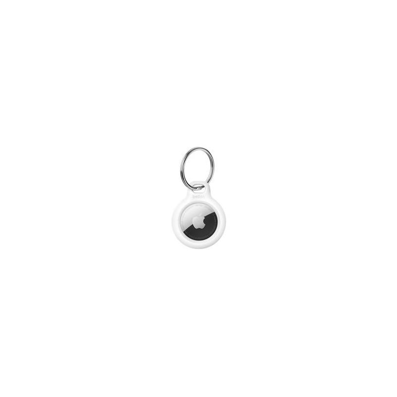 Belkin Support AIrTag sécurisé avec porte-clés blanc